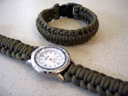 paracord watchband bracelet with a side release buckle
