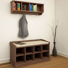 Hall Seat Coat Rack Modern Storage Bench With Coat Rack Plus Shoe And Cabinet Hall 87