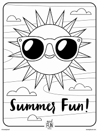 summer fun coloring in cool colouring