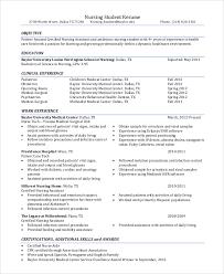 Nursing Student Resume Objective Free Resume Templates 2018