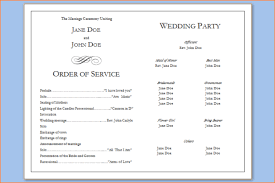 program template for wedding 6 wedding programs templates outline templates