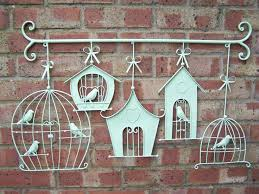 cute parenttheis birds ribbon stainless steel hanging red brick wall amazing home decoration outdoor wall art  on large metal wall art for garden with wall art top ten gallery outdoor wall art metal outside metal wall