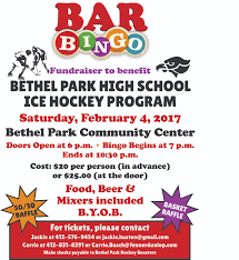bar bingo fundraiser to benefit the bethel park ice hockey program save the date bar bingo fundraiser to benefit the bethel park ice hockey program will be held on saturday 4 2017 at the bethel park community