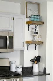 Kitchen Shelves Diy Reclaimed Wood Kitchen Shelves H20bungalow