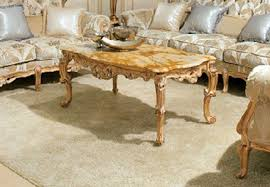 coffee table with frame in solid wood