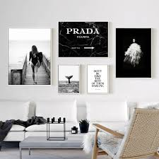 woman fashion surf poster letter nordic wall pop art canvas painting vogue posters and prints modern