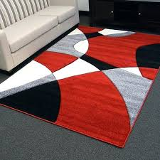 design abstract wave red area rug 5 rugs with brown and tan
