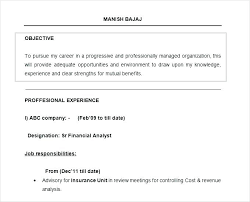 Objective Samples On Resume New Sample Resume Job Objective Examples Of On A Example For Career