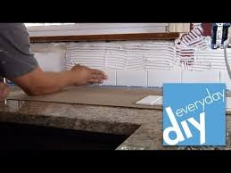 Tile Backsplash Install Inspiration How To Install A Tile Backsplash Part 48 Buildipedia DIY YouTube