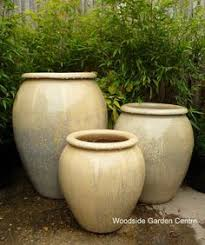 large glacier white glazed pot water jar woodside garden centre pots to inspire
