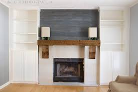 fireplace makeover rustic mantel