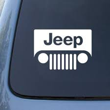 jeep grill logo. Exellent Logo JEEP LOGOgrill Style  6u0026quot WHITE DECAL Car Truck With Jeep Grill Logo O