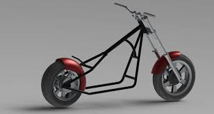 49cc mini chopper solidworks 3d cad model grabcad