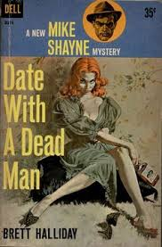 from pulp covers date with a dead man by brett halliday cover art by robert mcginnis