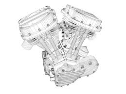 Inspiring panhead engine wiring contemporary best image schematics panhead harley motorcycle engine 3d model obj 3ds