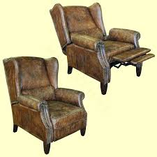 vintage reclining chair manor leather collection distressed vintage leather reclining wing chair cigar grant vintage reclining vintage reclining