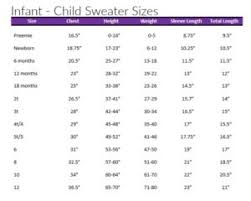 Crochet Baby Skirt Size Chart Sizing Charts For Crochet And Knitting The Lavender Chair
