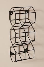 thea black honeycomb wall mounted wine rack