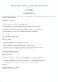 Special Education Teacher Resume Examples 2013 Publicassets Us