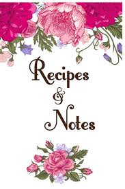 Recipe Journal Template Recipes Notes Blank Cookbook Recipe Journal Blank Recipe