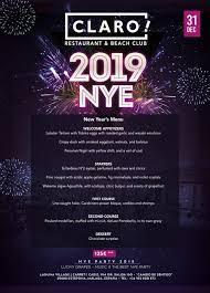 New Year Menu New Years Menu Claro Beach Club Restaurant