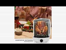 nutrichef upgraded multi function rotisserie oven vertical countertop oven w