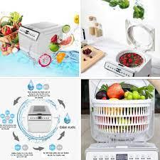 Máy rửa và khử trùng rau quả, thực phẩm tự động ozone bằng công nghệ ion  \
