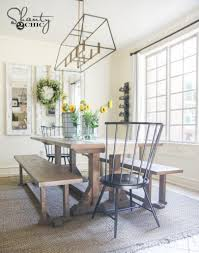 diy farmhouse dining table plans diy pottery barn inspired dining table for 100 shanty 2