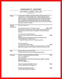 Curriculum Word Resume Doc Template Word Profile Related Experience Skills Modern