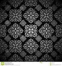 Bloemen Behang Zilveren Tegel Vector Illustratie Illustratie