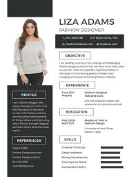 Fashion Design Resume Template Fascinating FREE Fashion Designer Resume And CV Template Download 40 Resumes