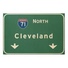 cleveland ohio oh interstate highway freeway wood wall art on cleveland wood wall art with cleveland wood wall art zazzle