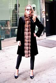 new black dyed sheared mink 7 8 coat reversible to taffeta w russian sable