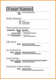 Resume Download Cv Format In Ms Word Simple Resumexample