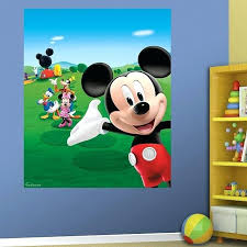 mickey mouse clubhouse mural mickey mouse wall large minnie mouse wall stickers best kids room images