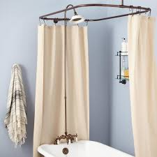 home and furniture vanity clawfoot shower kit at rim mount tub hand swing arms d