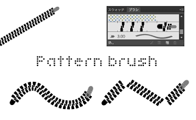 Illustratorのブラシを使いこなそうオリジナルのパターンブラシ作成