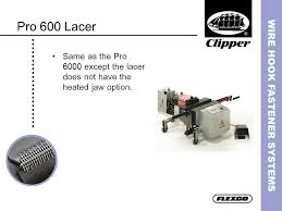 Clipper Belt Lacing Size Chart Wire Hook Fastener Systems Ppt Video Online Download