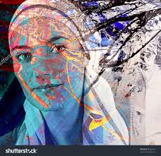 home office colorful girl. Abstract Fantasy Portrait Of A Beautiful Girl Colorful Painting Save To Lightbox. Home Office Decor D
