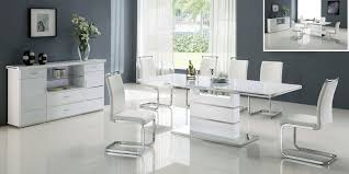 room modern white or black set with extendable dining room table