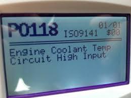 vw golf coolant temperature sensor replacement p0118