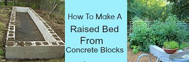 Small Picture How To Make Concrete Raised Garden Beds Gardening Ideas