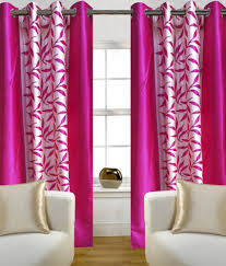 Small Picture Home Sazz Set of 3 Door Eyelet Curtains Floral Pink Buy Home