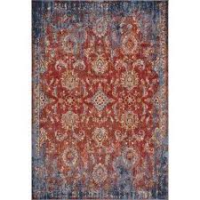 manor spice blue expressions 4 ft x 6 ft distressed area rug