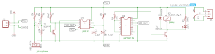 Clap Control Light Switch Clap Switch Circuit For Devices Circuit Working And Applications
