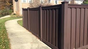 Brown Vinyl Fence Brown Vinyl Fencing Dark Brown Vinyl Picket Fence
