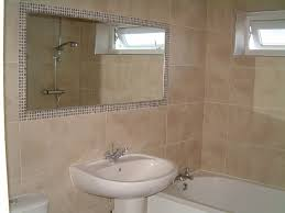 Mirror Tiles Decorating Ideas Classy Mosaic Tile Around Bathroom Mirror Also Home Decoration Ideas 55