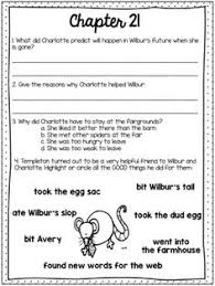 charlotte s web prehension questions for each chapter