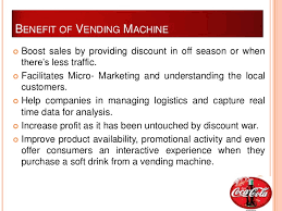 Advantages Of Vending Machines In Schools Extraordinary Advantages Of Vending Machines In Schools The Food Timeline School