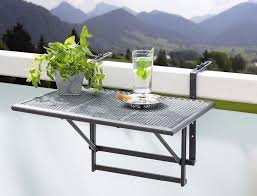 Small Folding hanging Table, for balcony, patio, garden, railings, BBQ,